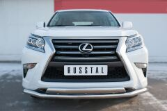Защита переднего бампера D63 (секции) D75х42 (дуга) для Lexus GX 460 2014-