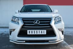 Защита переднего бампера D63 (секции) D42х2 (уголки) для Lexus GX 460 2014-