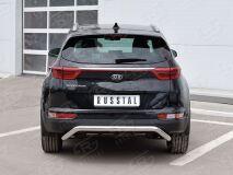 Защита заднего бампера D63 волна под машину для Kia Sportage 2016-