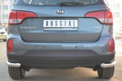 Защита заднего бампера уголки D63 для Kia Sorento 2012-