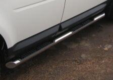 Пороги труба D76 с накладками (вариант 1) для Land Rover Freelander 2 2006-2011