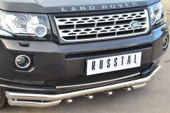 Защита переднего бампера D63 (секции) D63 (уголки)+ зубья для Land Rover Freelander 2 2012-