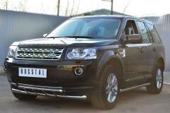 Защита переднего бампера D63 (секции) D42 (дуга) для Land Rover Freelander 2 2012-