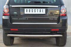 Защита заднего бампера D63 (волна) для Land Rover Freelander 2 2012-