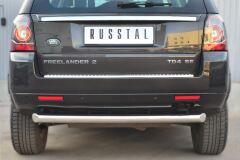 Защита заднего бампера D76 (дуга) для Land Rover Freelander 2 2012-