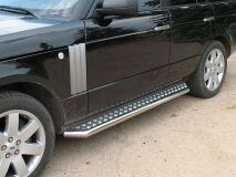 Пороги труба D76 C листом для Land Rover Range Rover