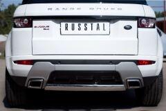 Защита заднего бампера D75X42 овал для Land Rover Range Rover Evoque Dynamic 2011-
