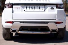 Защита заднего бампера D63 (дуга) для Land Rover Range Rover Evoque Dynamic 2011-