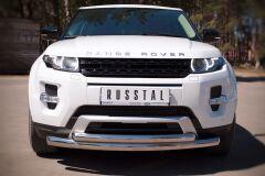 Защита переднего бампера D76/63 (дуга) для Land Rover Range Rover Evoque Dynamic 2011-
