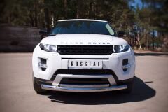 Защита переднего бампера D75х42 овал для Land Rover Range Rover Evoque Dynamic 2011-