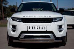 Защита переднего бампера D75х42/75х42 овалы для Land Rover Range Rover Evoque Dynamic 2011-