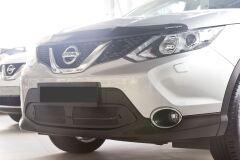 Защитная сетка решетки переднего бампера Nissan Qashqai J11 2014—2016, Qashqai 2017-2018 J11 (рестайлинг)