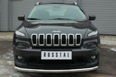 Защита переднего бампера D63 (секции) для Jeep Cherokee 2014-