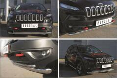 Защита переднего бампера D63 (секции) D42 (дуга) для Jeep Cherokee Trailhawk 2014-