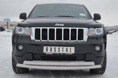 Защита переднего бампера 75х42/75х42 овалы для Jeep Grand Cherokee 2012