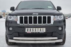 Защита переднего бампера D76/63 (дуга) для Jeep Grand Cherokee 2012