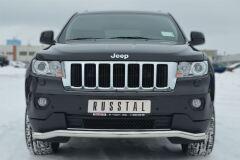Защита переднего бампера D63 волна (секции) для Jeep Grand Cherokee 2012