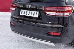 Защита заднего бампера 75х42 дуга для Kia Sorento Prime CRDI 2015