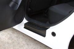 Накладки на внутренние пороги дверей Mazda 3 седан 2013-2016 (III дорестайлинг)