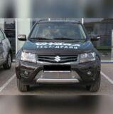 Накладка на решетку бампера (полоска) для Suzuki Grand Vitara 3дв, 5дв 2012-