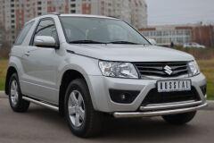 Защита переднего бампера D63/42(дуга) для Suzuki Grand Vitara 3дв 2012-