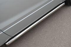 Пороги труба D63 (вариант 1) для Suzuki Grand Vitara 3дв 2012-