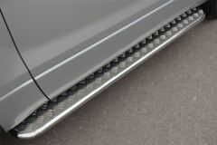 Пороги труба D42 с листом для Suzuki Grand Vitara 3дв 2012-