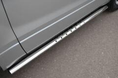Защита порогов 75х42 с проступью для Suzuki Grand Vitara 3дв 2012-