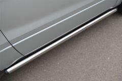 Пороги труба D63 (вариант 2) для Suzuki Grand Vitara 3дв 2012-