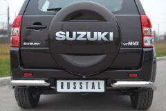 Защита заднего бампера уголки D63 для Suzuki Grand Vitara 5дв 2012-