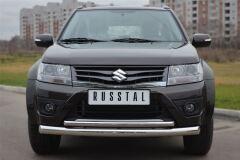 Защита переднего бампера D76/42(дуга) для Suzuki Grand Vitara 5дв 2012-