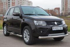 Защита переднего бампера D76(дуга) для Suzuki Grand Vitara 5дв 2012-