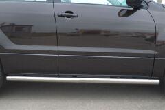 Пороги труба D63 (вариант 3) для Suzuki Grand Vitara 5дв 2012-