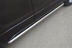 Пороги труба D63 (вариант 1) для Suzuki Grand Vitara 5дв 2012-