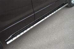 Защита порогов 75х42 с проступью для Suzuki Grand Vitara 5дв 2012-