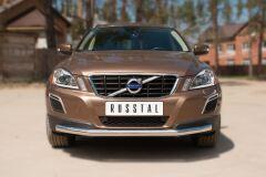 Защита переднего бампера D63 (секции) для Volvo XC 60 2008-2013