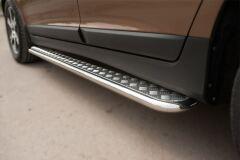 Пороги труба D42 с листом для Volvo XC 60 2008-2013