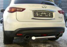 Защита заднего бампера D63 для Infiniti FX35/50 2009-2012