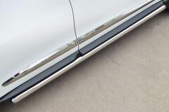 Пороги труба D63 (Вариант 3) (Гибрид) для Infiniti JX35-QX60 2013-