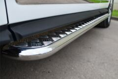 Пороги труба D42 с листом для Infiniti JX35-QX60 2013-
