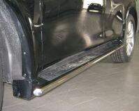 Пороги труба D42 для Infiniti QX56 2010-