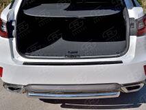 Накладка на задний бампер (лист нерж зеркальный) для Lexus RX200t 2015-