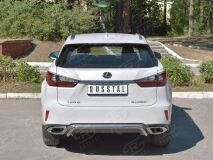 Защита заднего бампера D42 волна под машину для Lexus RX200t 2015-