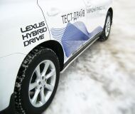 Пороги труба D42 для Lexus RX 270/350/450 2009-