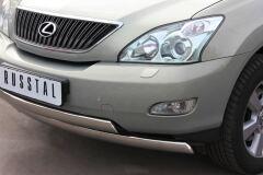 Защита переднего бампера 75х42/75х42 овалы для Lexus RX300/330/350 2003-2008