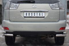 Защита заднего бампера уголки D63/42 для Lexus RX300/330/350 2003-2008