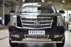 Защита переднего бампера D75х42 (дуга) D75х42 (дуга) для Cadillac Escalade 2007-2015
