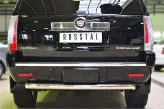 Защита заднего бампера D76 (дуга) для Cadillac Escalade 2007-2015