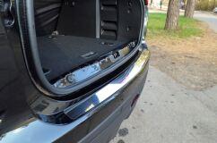 Накладка на задний бампер (лист нерж зеркальный) для Lada Xray 2015