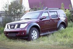 Расширители колесных арок Nissan Pathfinder 2004 - 2013 ГЛЯНЕЦ (ПОД ПОКРАСКУ)